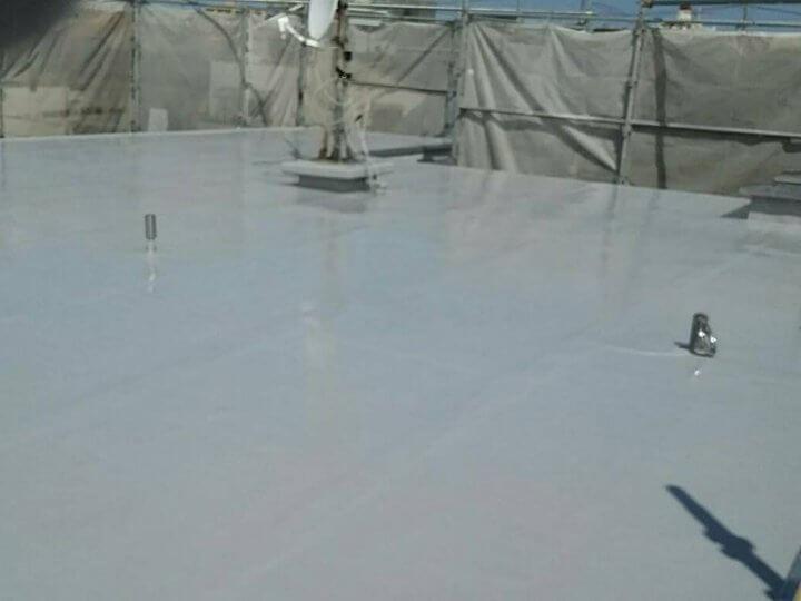 屋上の陸屋根完了
