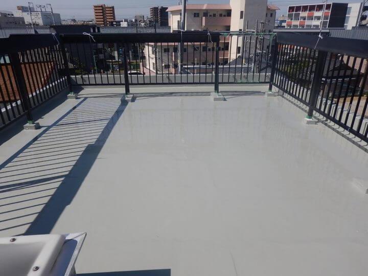名古屋市 熱田区 H様邸 雨漏り陸屋根 屋上 防水塗装