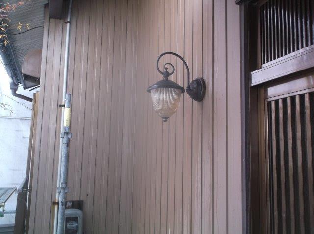 外壁トタン施工前