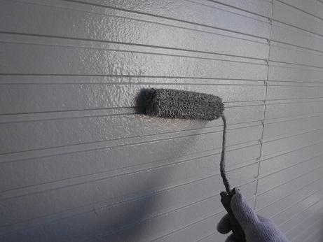 外壁の上塗り(仕上げ)