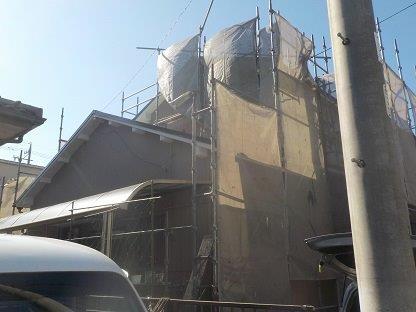 屋根塗装外壁塗装足場解体