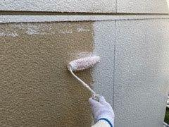 外壁サイディング下塗り二回目状況