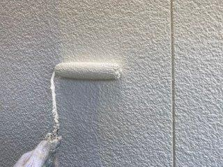 外壁サイディング中塗り状況