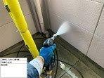 外壁ALC塗装高圧洗浄状況