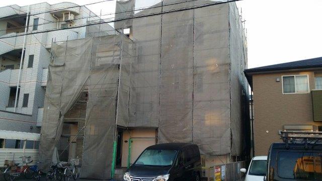 外壁塗装足場組立
