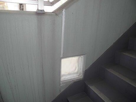 外壁モルタル目地コーキング施工後