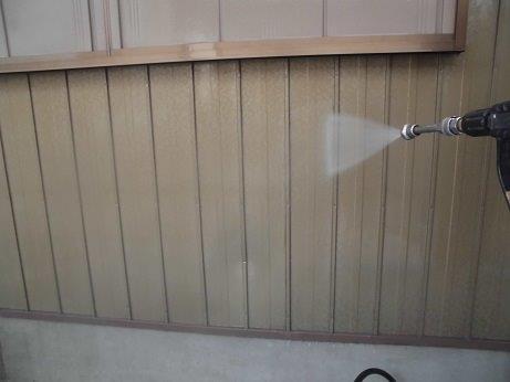 外壁板金高圧洗浄