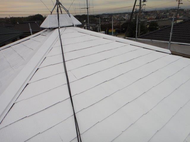 屋根塗装下塗り二回目塗装完了