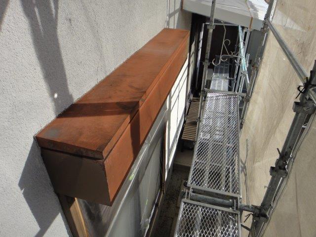 シャッターボックス塗装施工前