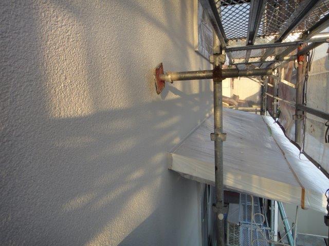 外壁サイディングの中塗り塗装施工後
