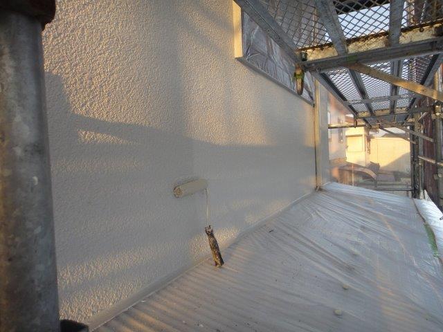 外壁サイディングの上塗り塗装完了