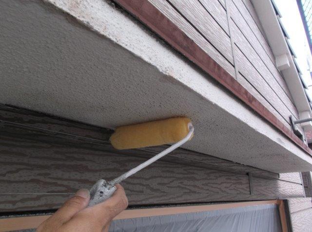軒天 下塗り塗装