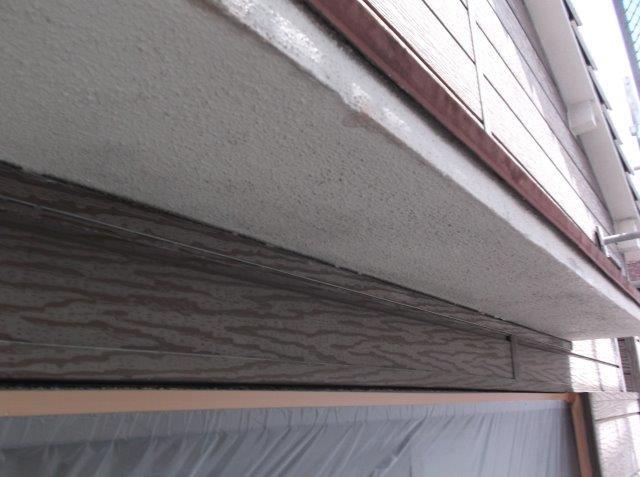 軒天 下塗り塗装後