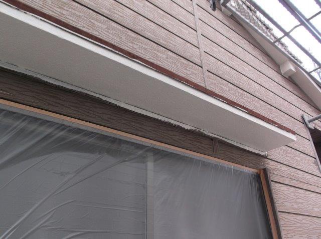 軒天 中塗り塗装後
