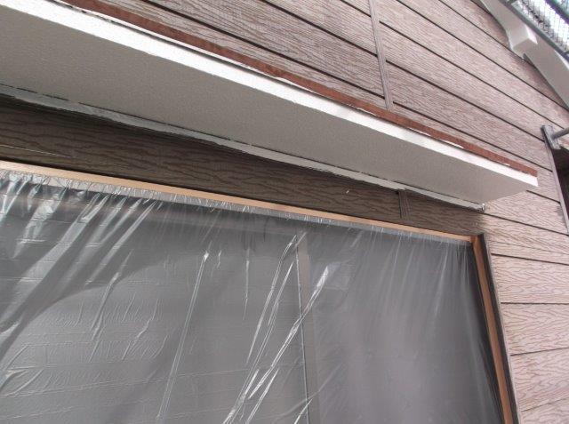 軒天上塗り塗装後