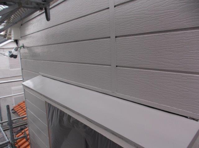 外壁サイディング下塗り塗装後