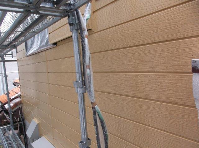 外壁サイディング上塗り塗装後
