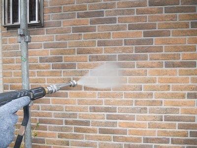 タイル調サイデイングクリヤー高圧洗浄