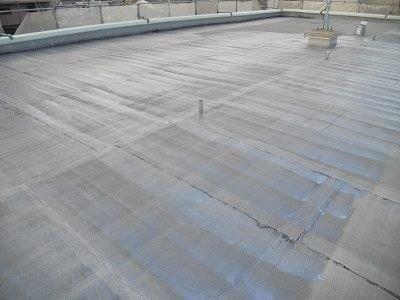 屋上防水下塗り塗装施工後