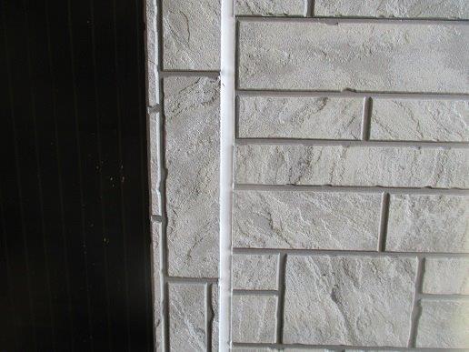 外壁サイディングの塗装前の目地のコーキング打替え施工後