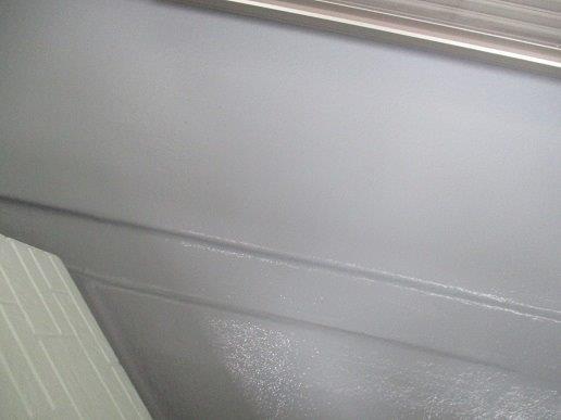 バルコニー防水材二回目塗装完了