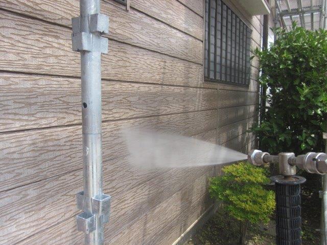 外壁サイディング高圧洗浄
