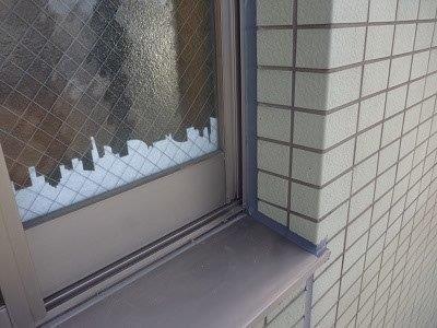 外壁タイル部サッシ廻りコーキング打替え施工後