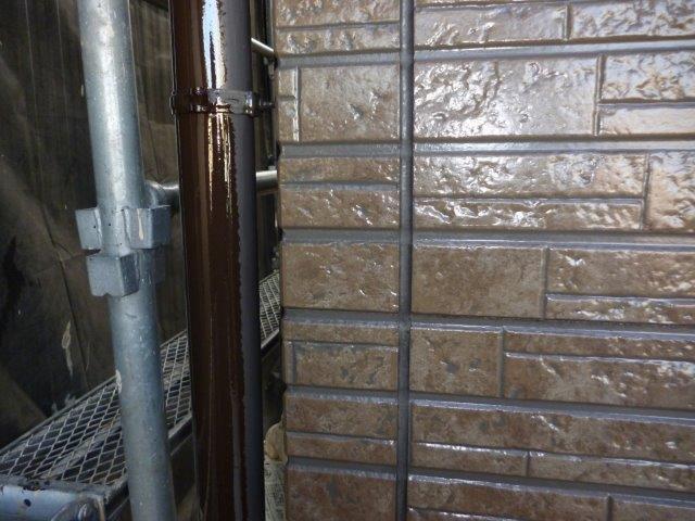 外壁タイル調サイデイング目地コーキング打替え施工前