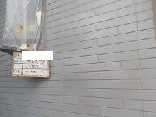 外壁サイディングアクセント部断熱塗料二層目塗装完了