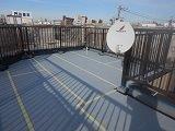 屋上陸屋根防水シート貼り