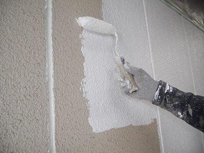 外壁ALC下塗り塗装状況