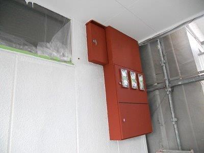 外壁ALC下塗り塗装完了