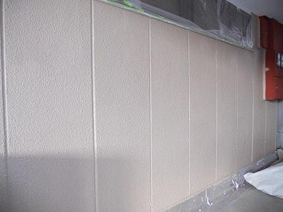 外壁ALC断熱塗料二層目塗装完了