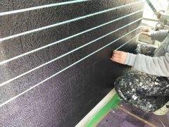 外壁ALC塗装タイル調塗装目地テープ状況