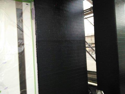 外壁ALC塗装タイル調塗装中塗り塗装完了