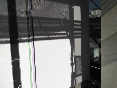外壁ALC塗装タイル調塗装下塗り完了