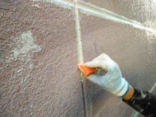 外壁ALC塗装前コーキング補修状況