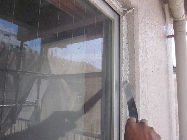 外壁ALC塗装コーキング補修状況