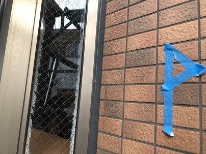 外壁タイル面サッシ廻りコーキング補修施工前
