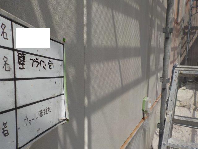外壁サイデイング下塗り塗装完了