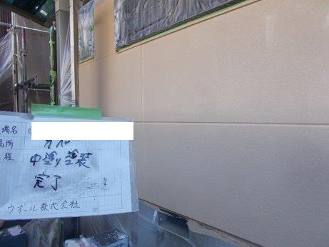 外壁ALC断熱塗料一層目塗装完了