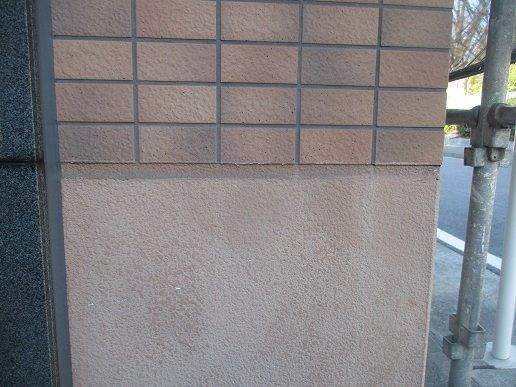 外壁モルタル面コーキング補修施工前