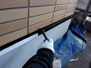 水きり塗装上塗り一層目塗装状況