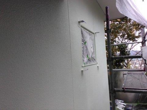 外壁モルタル断熱塗装完了
