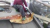 屋上改修用ドレン取り付け