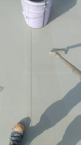 屋上ウレタン防水塗装状況