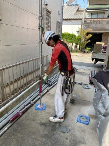 外壁塗装足場仮設