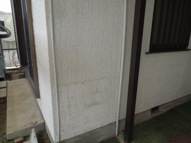 外壁モルタル部塗装施工前