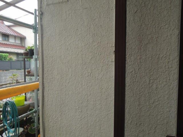 外壁モルタル部塗装高圧洗浄完了