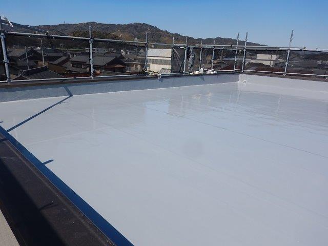屋上ウレタン防水完了